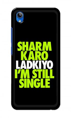 For Vivo Y91i Ptinted Mobile Case Back Cover Pouch (Sharm Karo Ladkiyon)