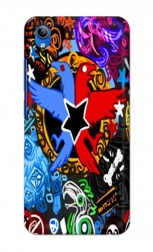 For Vivo Y91i Ptinted Mobile Case Back Cover Pouch (Colorful Eagle)