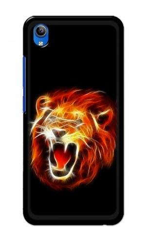 For Vivo Y91i Ptinted Mobile Case Back Cover Pouch (Lion Fire)