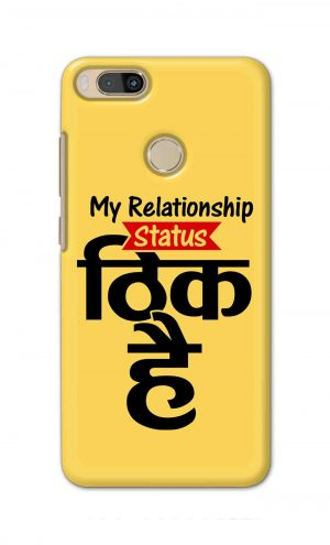 For Xiaomi Redmi Mi A1 Printed Mobile Case Back Cover Pouch (My Relationship Status)