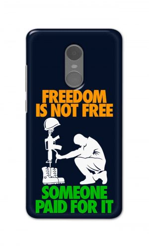 For Xiaomi Redmi Note 4 Printed Mobile Case Back Cover Pouch (Freedom Is Not Free)