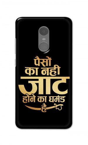 For Xiaomi Redmi Note 4 Printed Mobile Case Back Cover Pouch (Paison Ka Nahi Jaat Hone Ka Ghamand Hai)