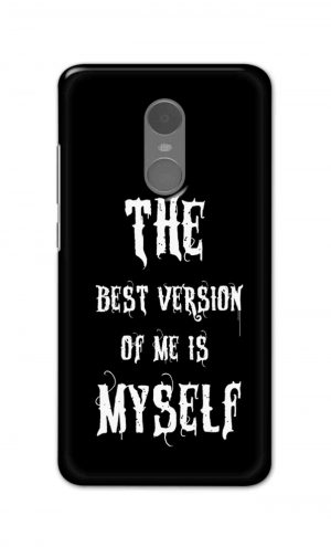 For Xiaomi Redmi Note 4 Printed Mobile Case Back Cover Pouch (The Best Version Of Me)