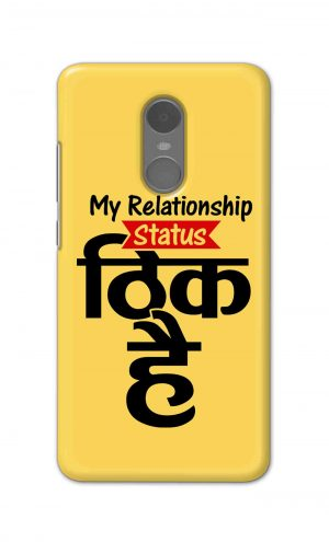 For Xiaomi Redmi Note 4 Printed Mobile Case Back Cover Pouch (My Relationship Status)