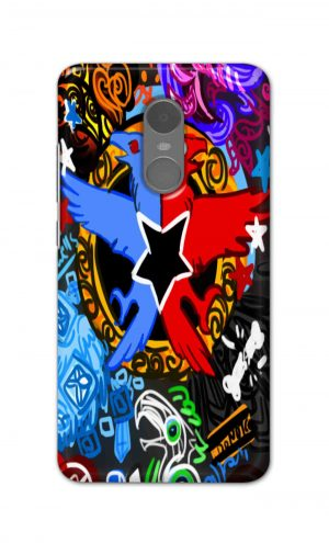 For Xiaomi Redmi Note 4 Printed Mobile Case Back Cover Pouch (Colorful Eagle)