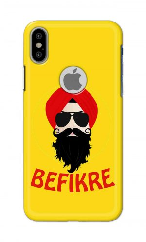For Apple iPhone Xs Printed Mobile Case Back Cover Pouch (Sardar Ji Befikre)
