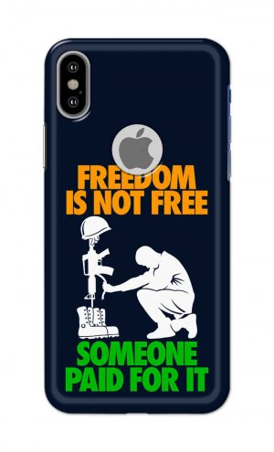 For Apple iPhone Xs Printed Mobile Case Back Cover Pouch (Freedom Is Not Free)