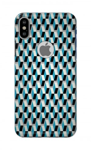 For Apple iPhone Xs Printed Mobile Case Back Cover Pouch (Diamonds Pattern)