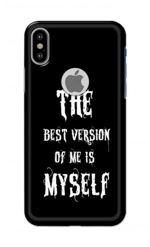 For Apple iPhone Xs Printed Mobile Case Back Cover Pouch (The Best Version Of Me)