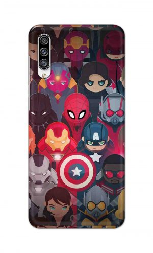 For Samsung Galaxy A30s Printed Mobile Case Back Cover Pouch (All Super Heros)